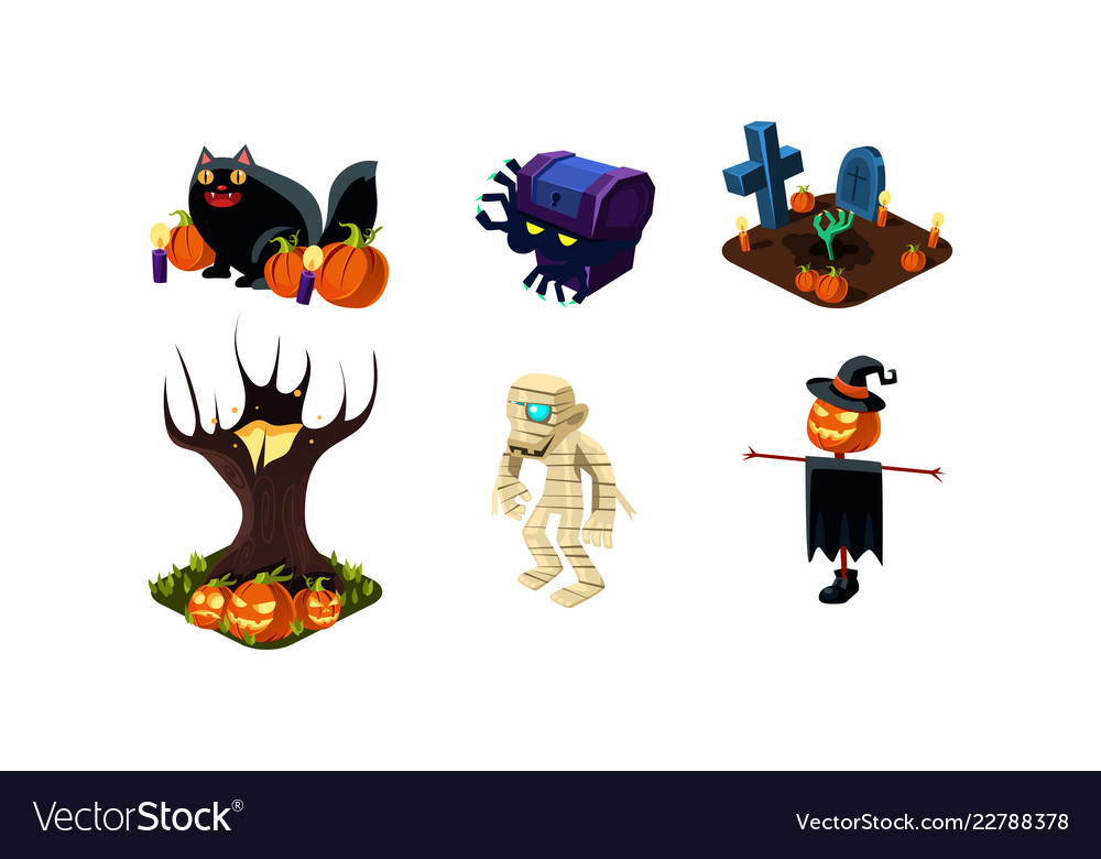 Halloween related objects and creatures set user