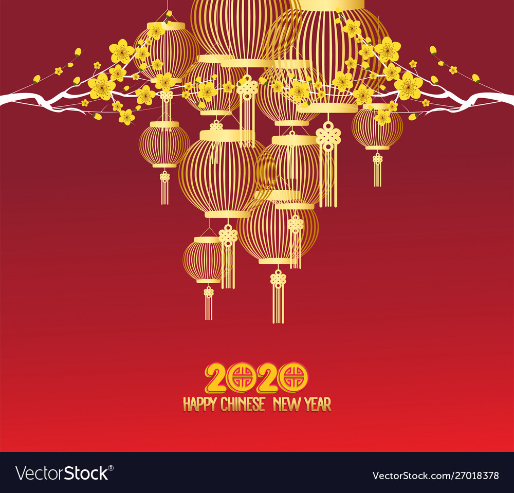 Chinese New Year 2020 Zodiac.Happy Chinese New Year 2020 Zodiac Sign With Gold