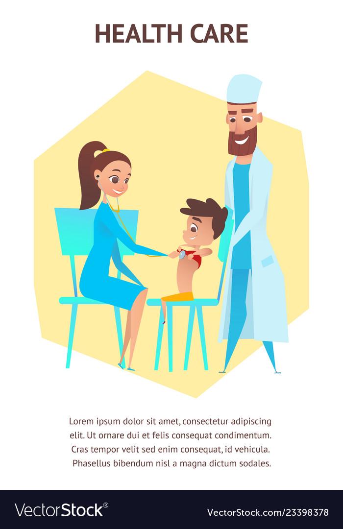 Health care pediatrician examination