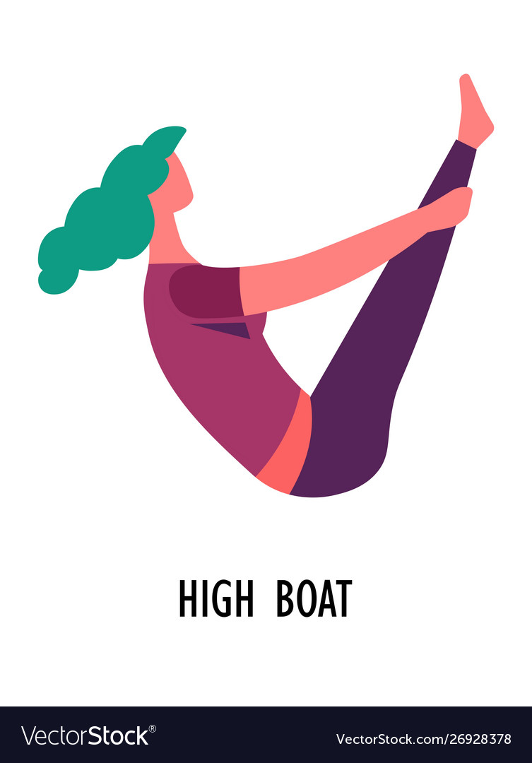 High boat asana yoga pose sport or fitness
