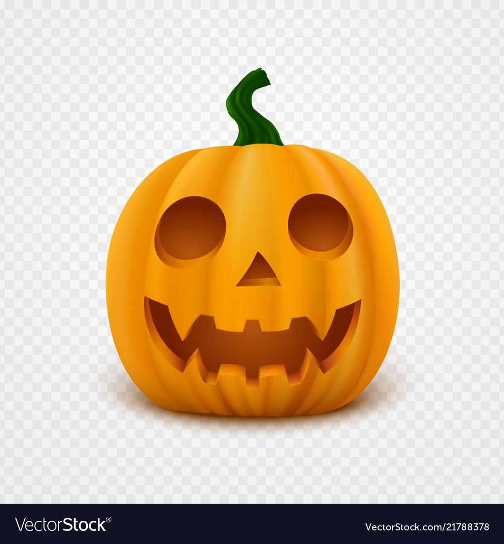 Halloween Pumpkin Vector.Realistic Halloween Pumpkin