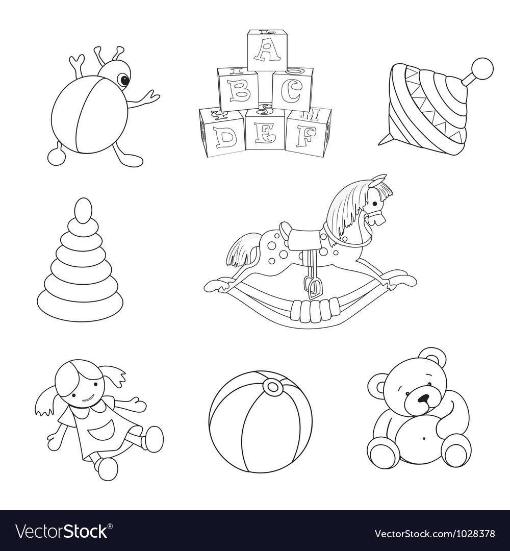 Toys Set vector image