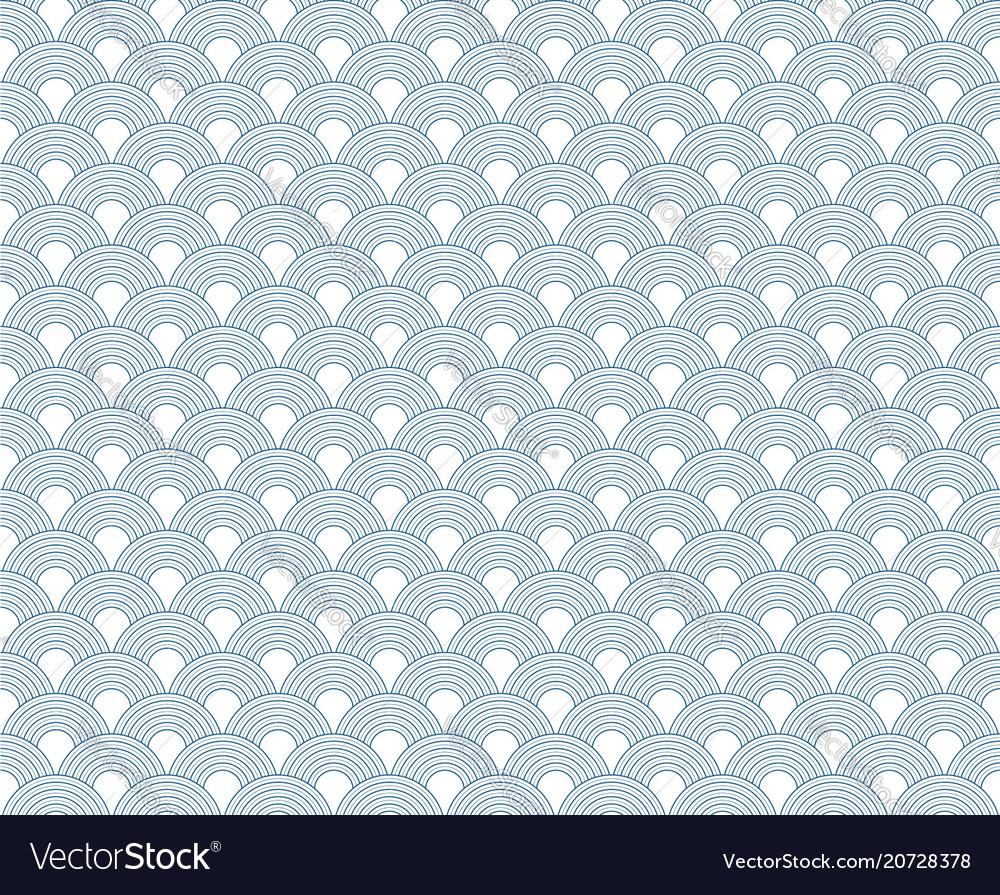 Wave seamless pattern blue curve pattern i