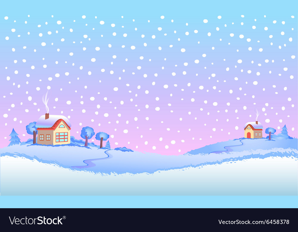 Winter landscape in day