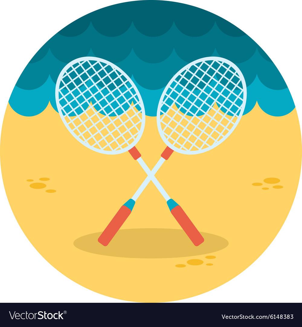 Badminton Racket flat icon vector image