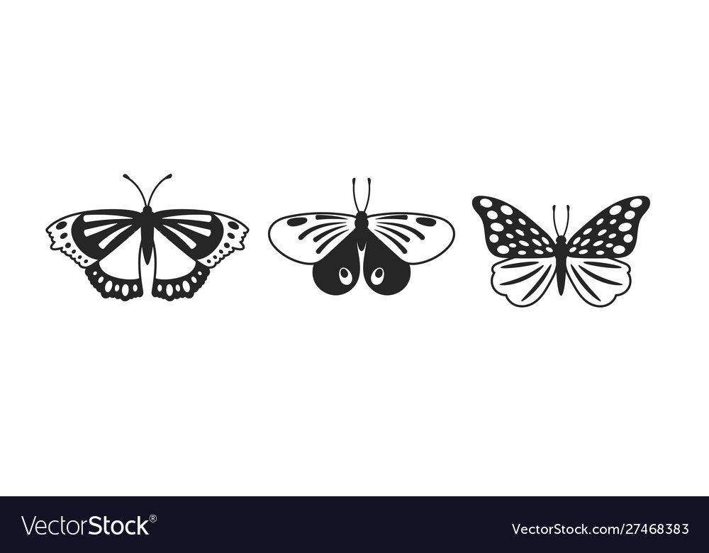 Butterflies glyph set