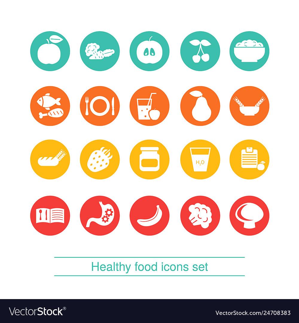 Diet icon set diet icon set