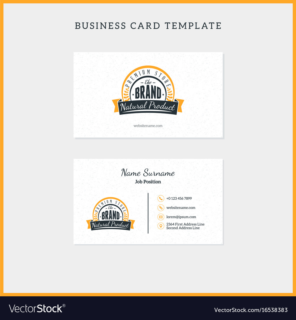 Double-sided vintage business card template with