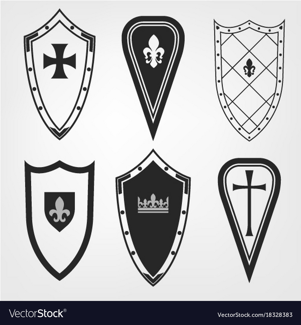 Medieval shield set