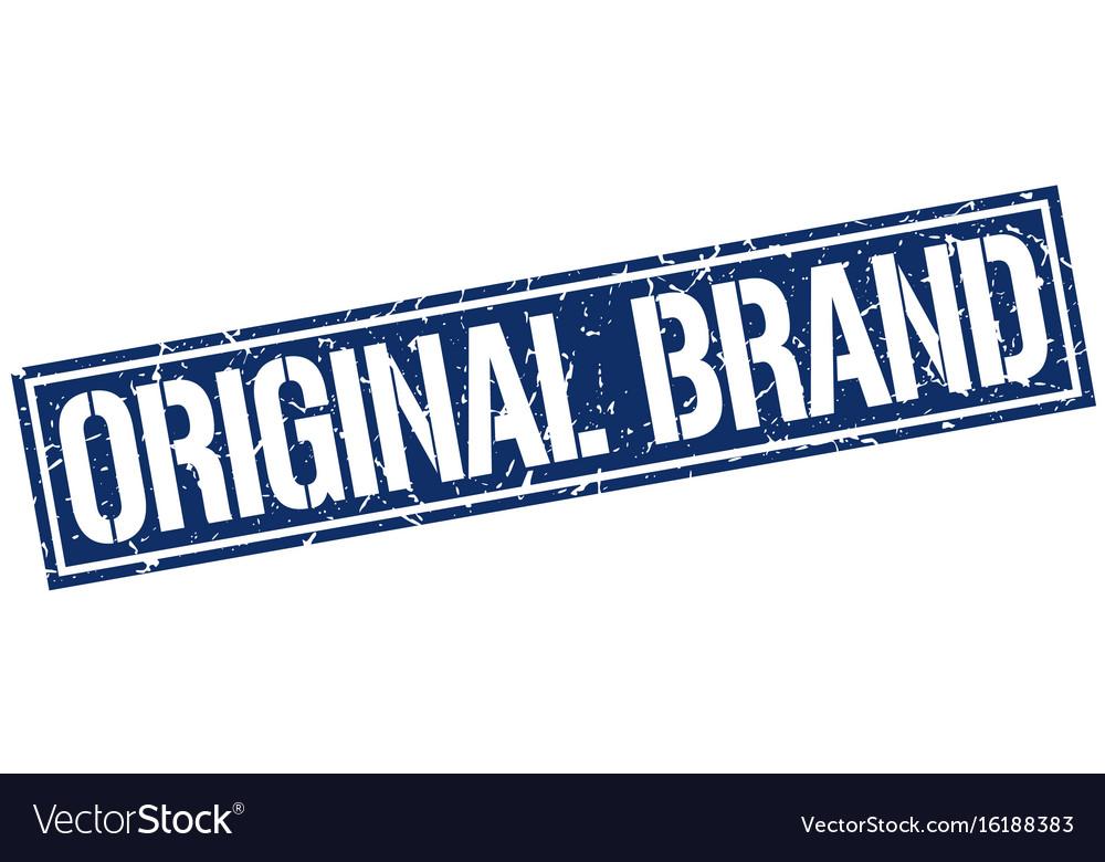 Original brand square grunge stamp