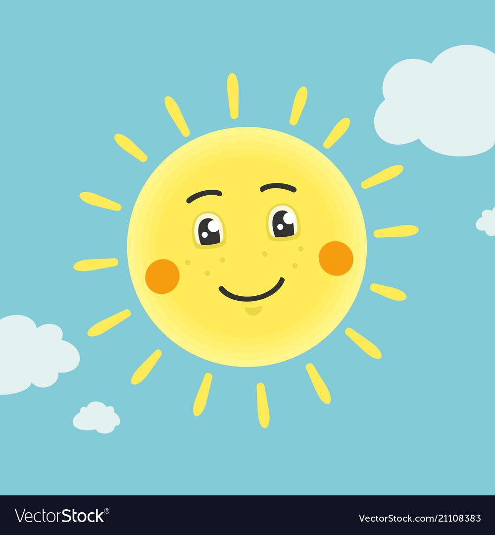 The cartoon sun character