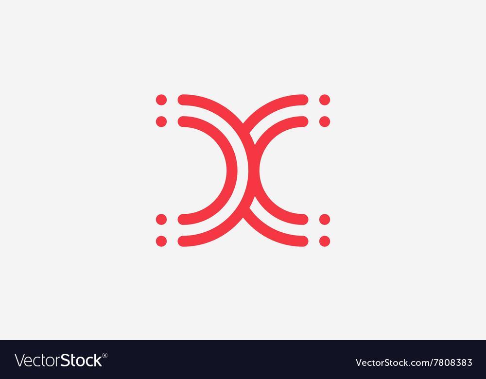 X letter logo design line logo creative logo