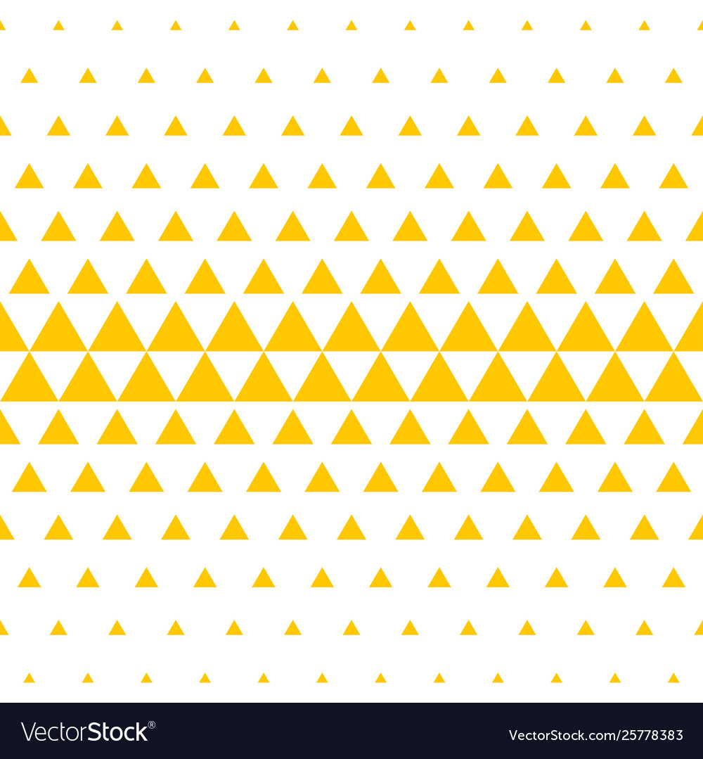 Yellow white triangle pattern halftone background
