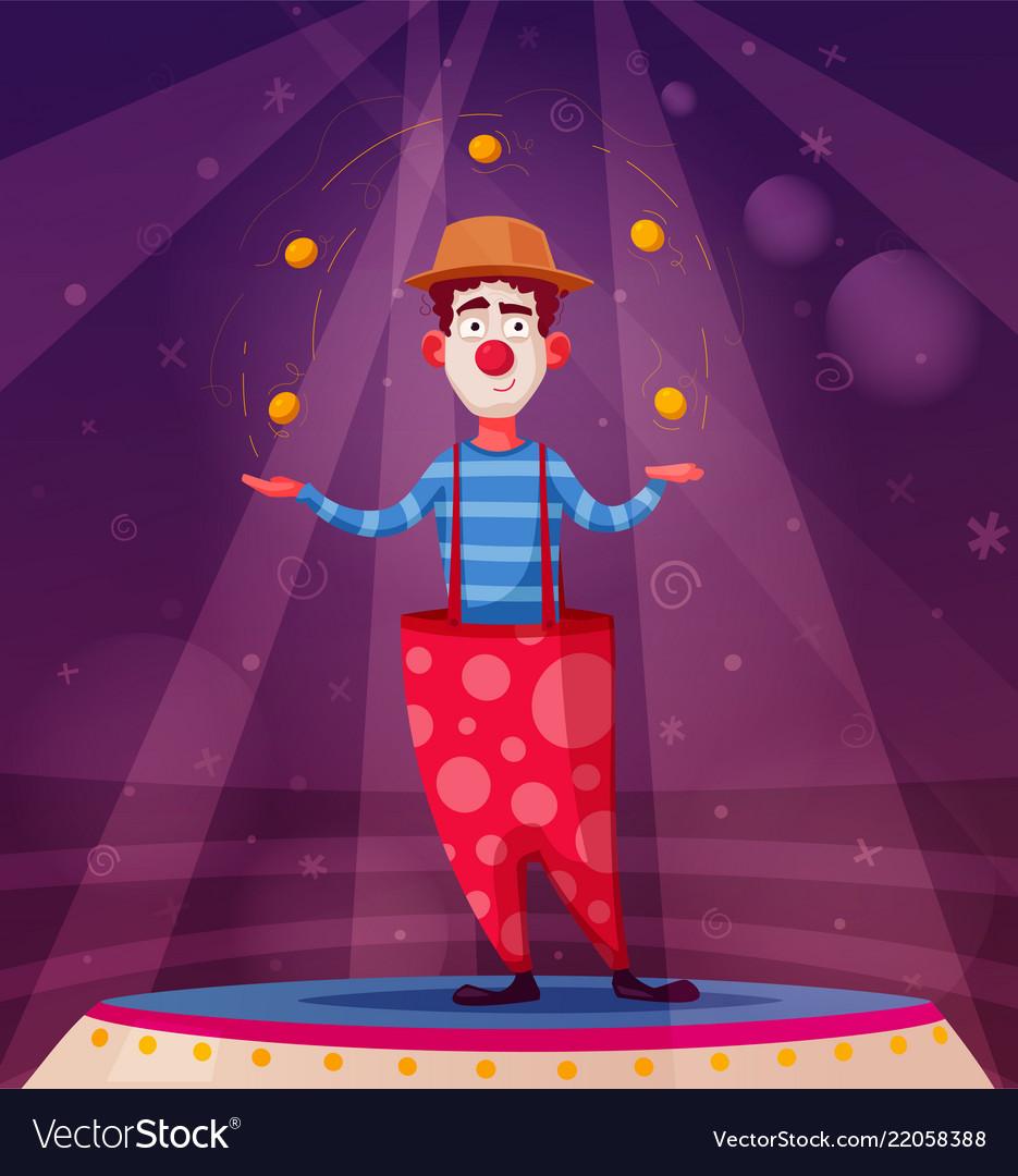 Circus show funny clown