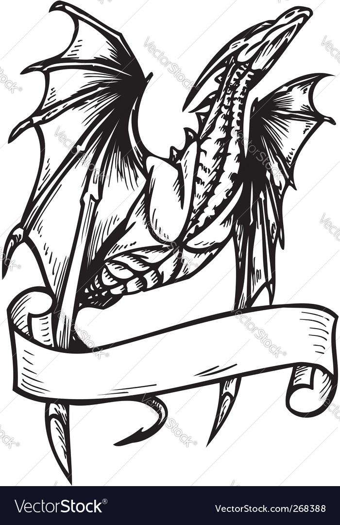 Dragon Template Vector Image