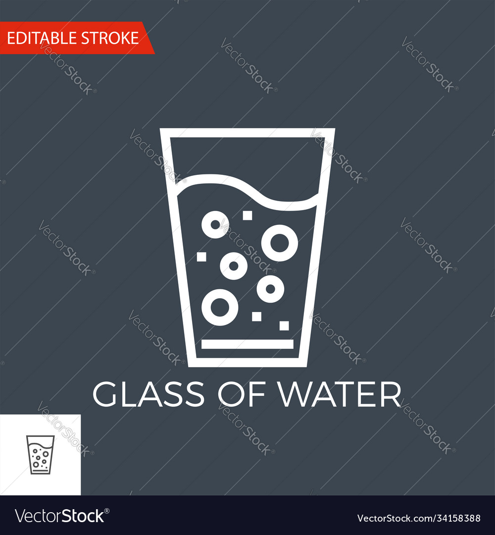 Glass water icon