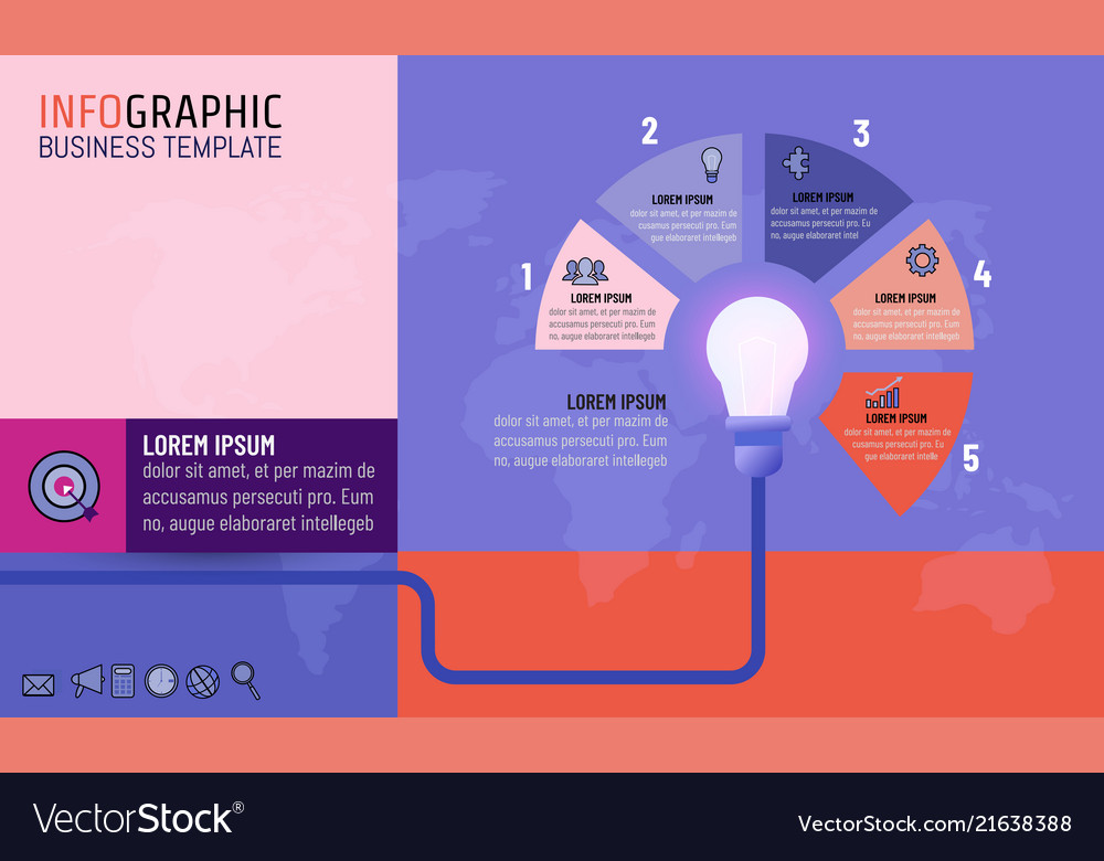 Light bulb infographic template for business