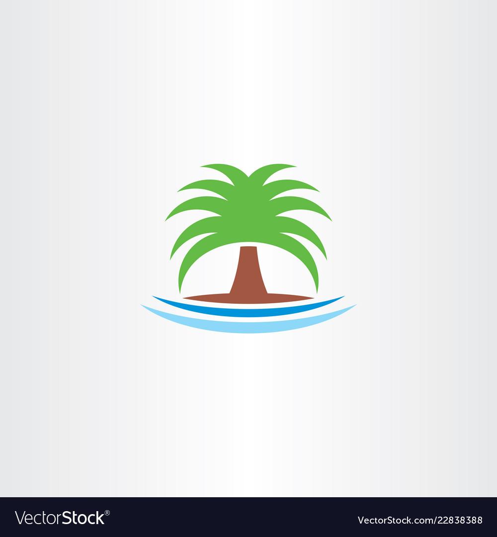 Palm icon tree symbol logo