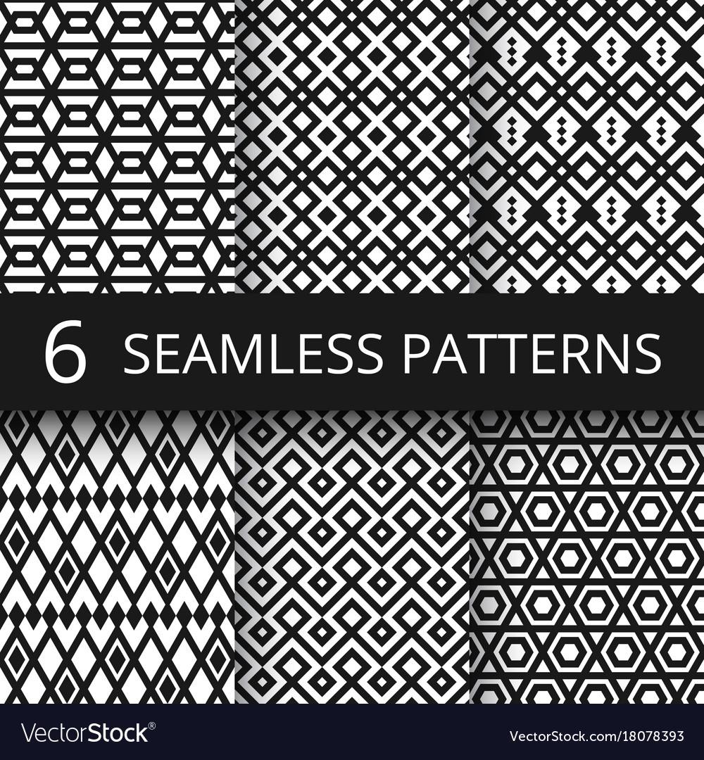 Abstract arabic geometric seamless patterns