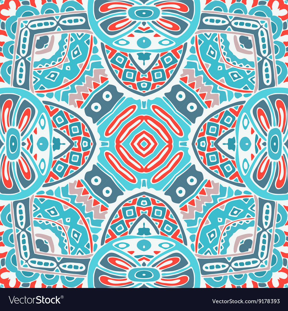Abstract seamless geometric winter pattern