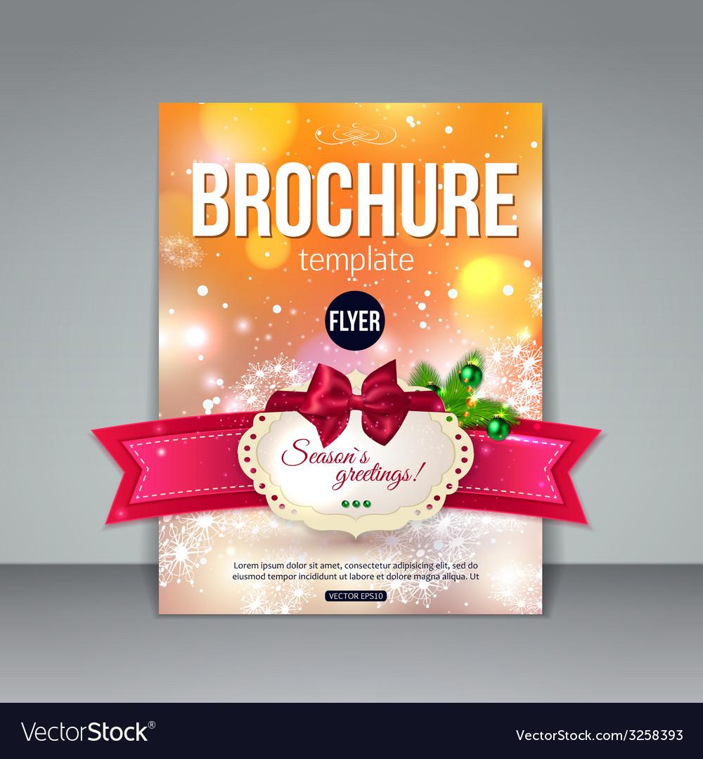 christmas brochure template abstract flyer design vector image