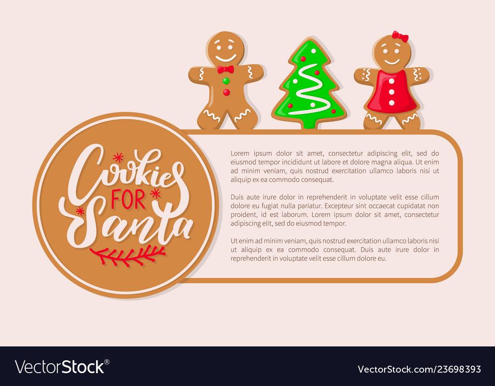 Cookies Santa Claus Gingerbread Biscuits Poster