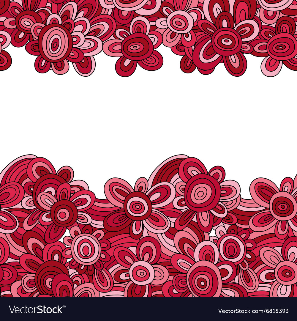 Floral pattern For easy making seamless