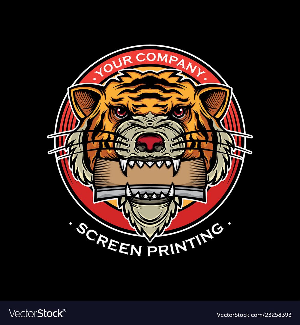 Icon screen printing design