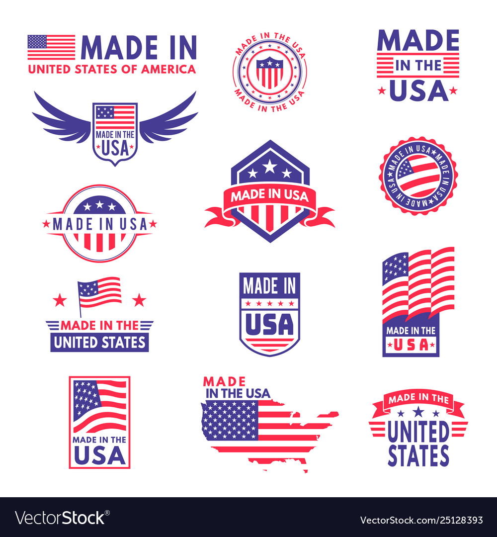 Made in usa flag made america american states