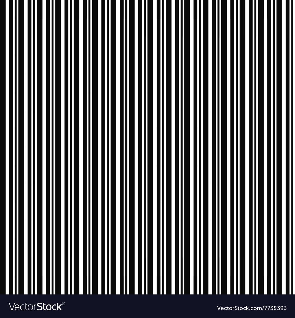 Monochrome repeating barcode stripe design pattern