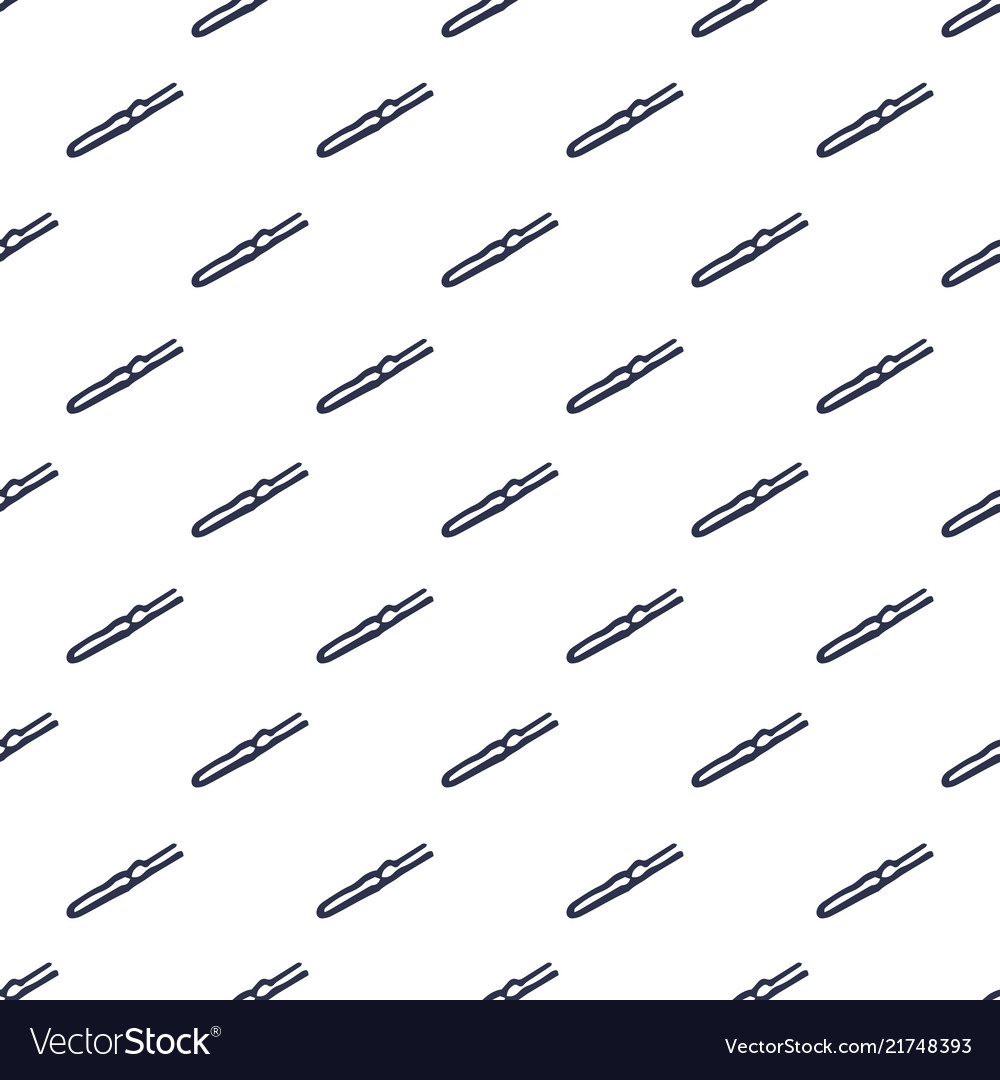 Seamless pattern with hair pins hand drawn backgr