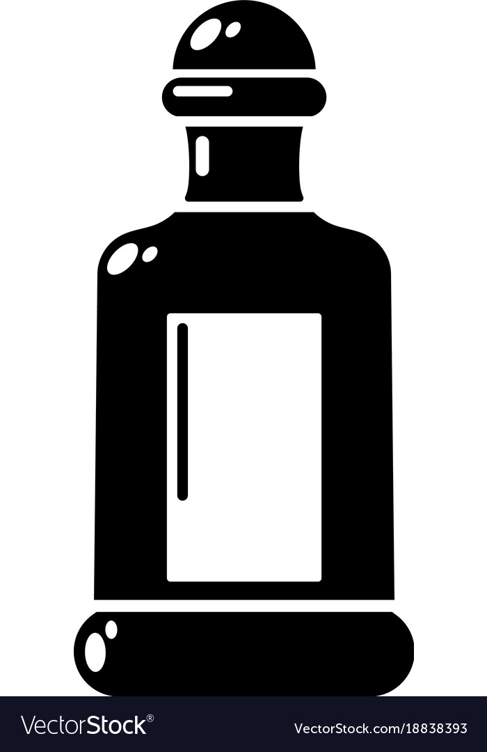 Square bottle icon simple style