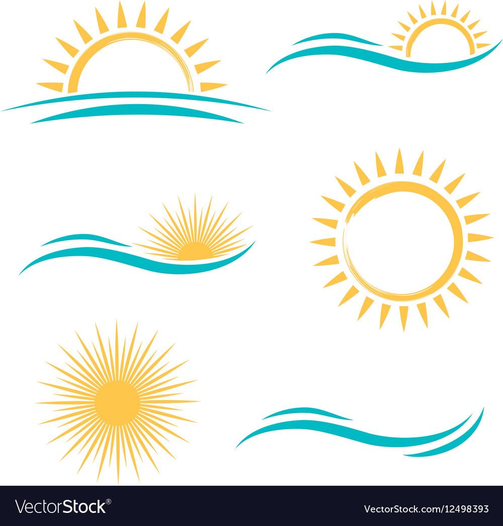 Sun and Sea Simple Logo