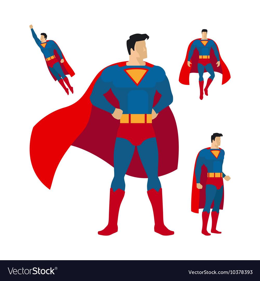 Superhero flat style icons