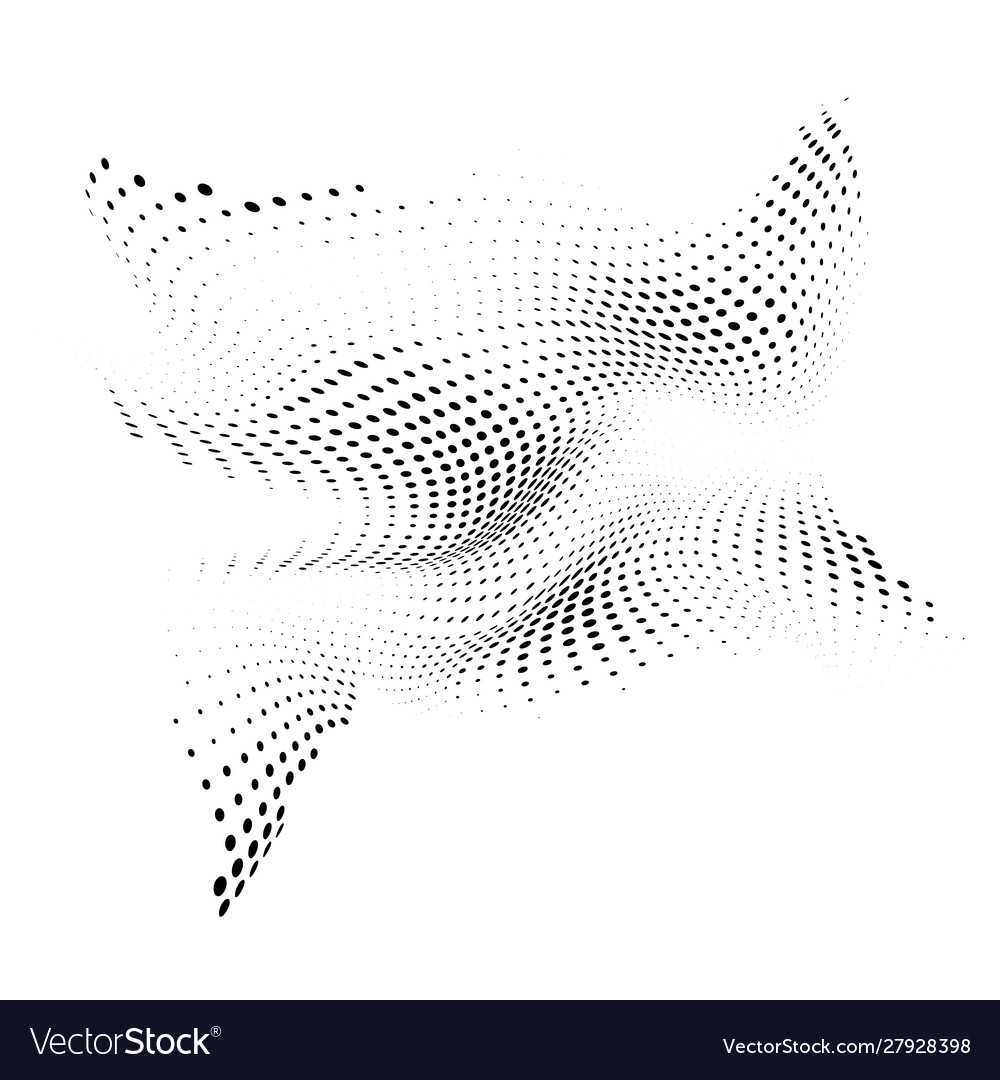 Abstract halftone background with dynamic waves