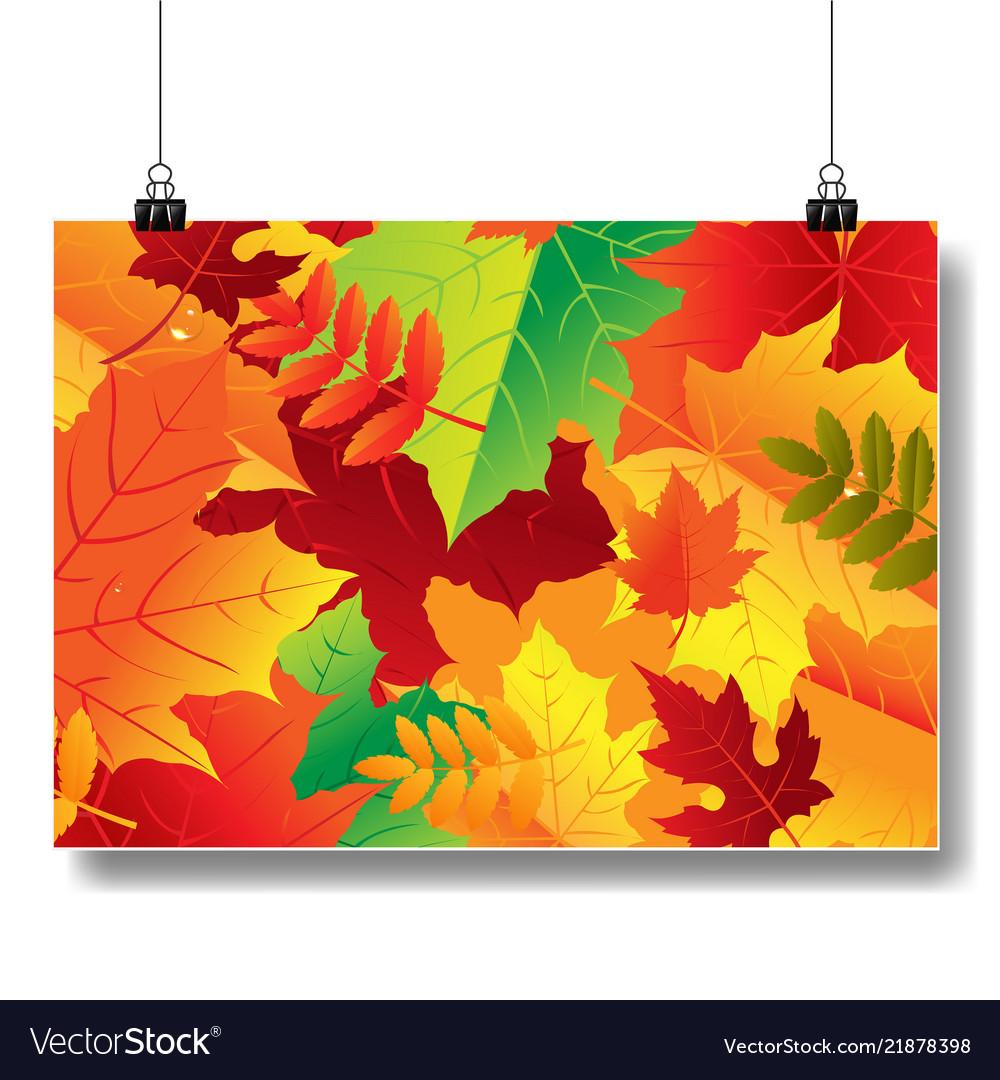 Autumn banner isolated