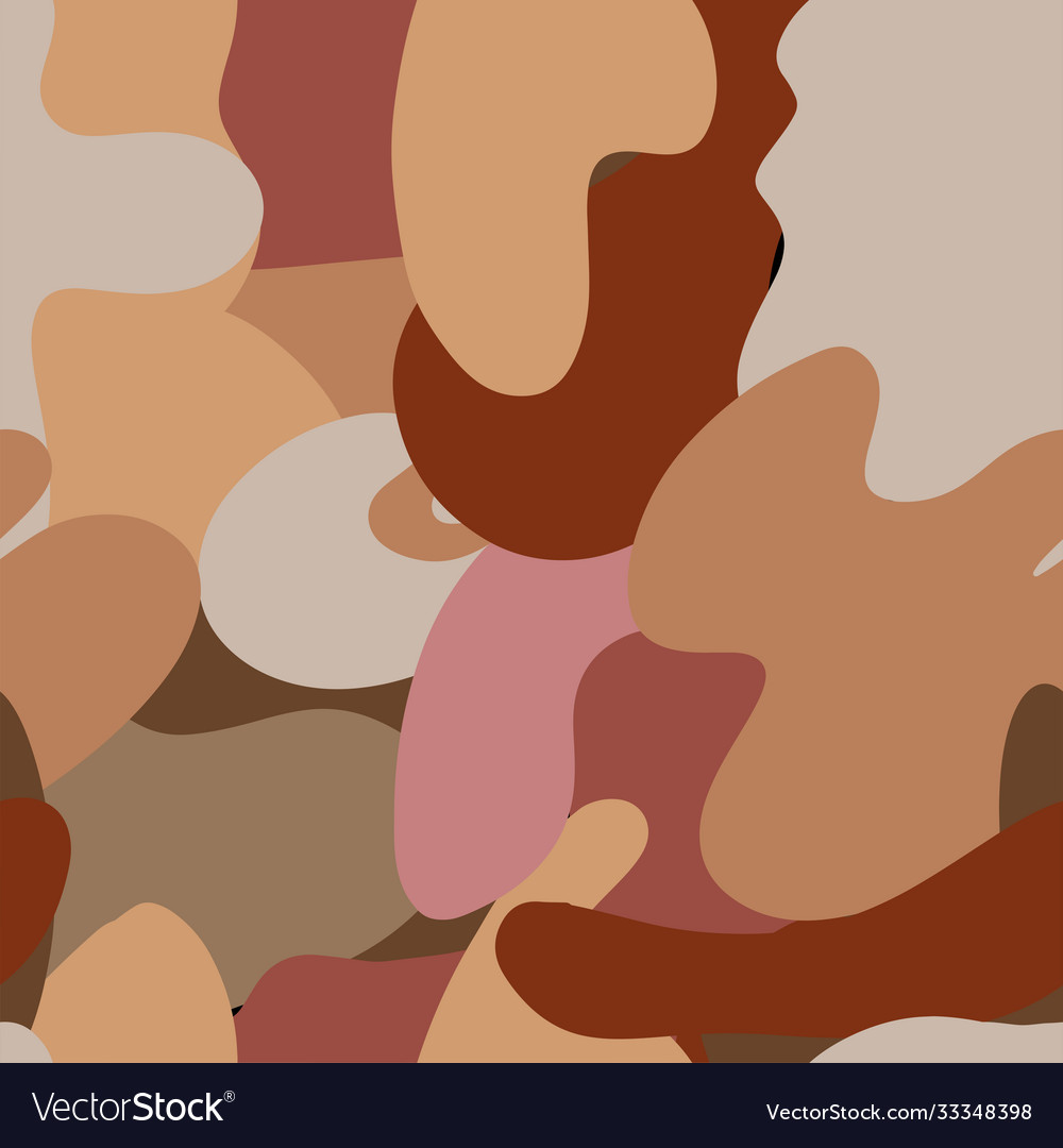 Autumn camouflage trendy seamless pattern of