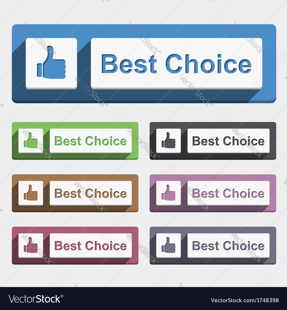 Best Choice Button vector image