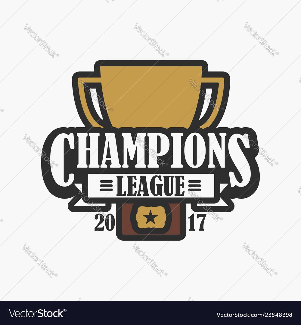 Champion league sports logo