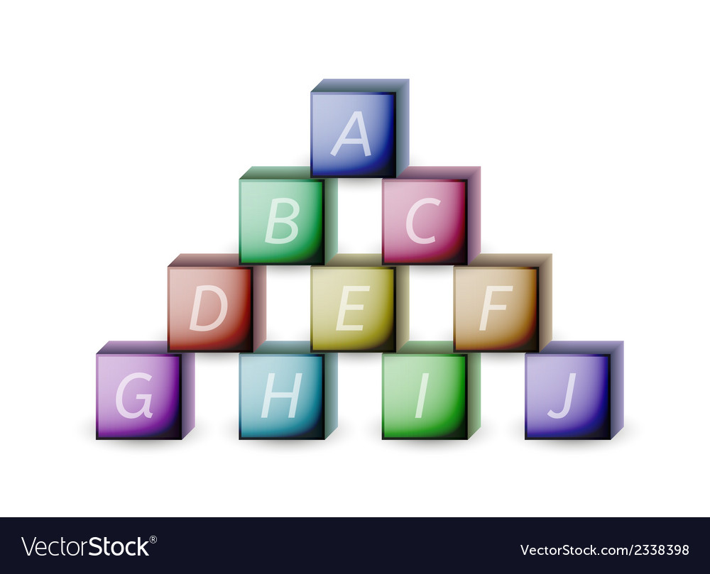 Cubes and letters