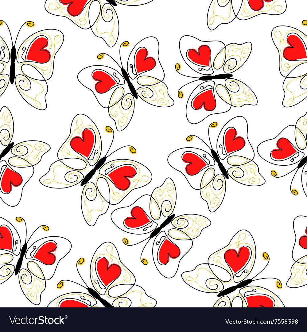 Heart butterfly pattern