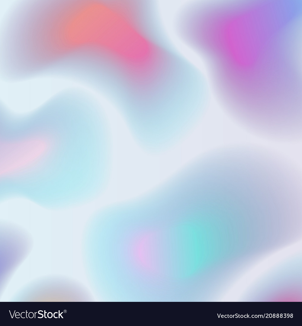 Holographic abstract background in pastel colors