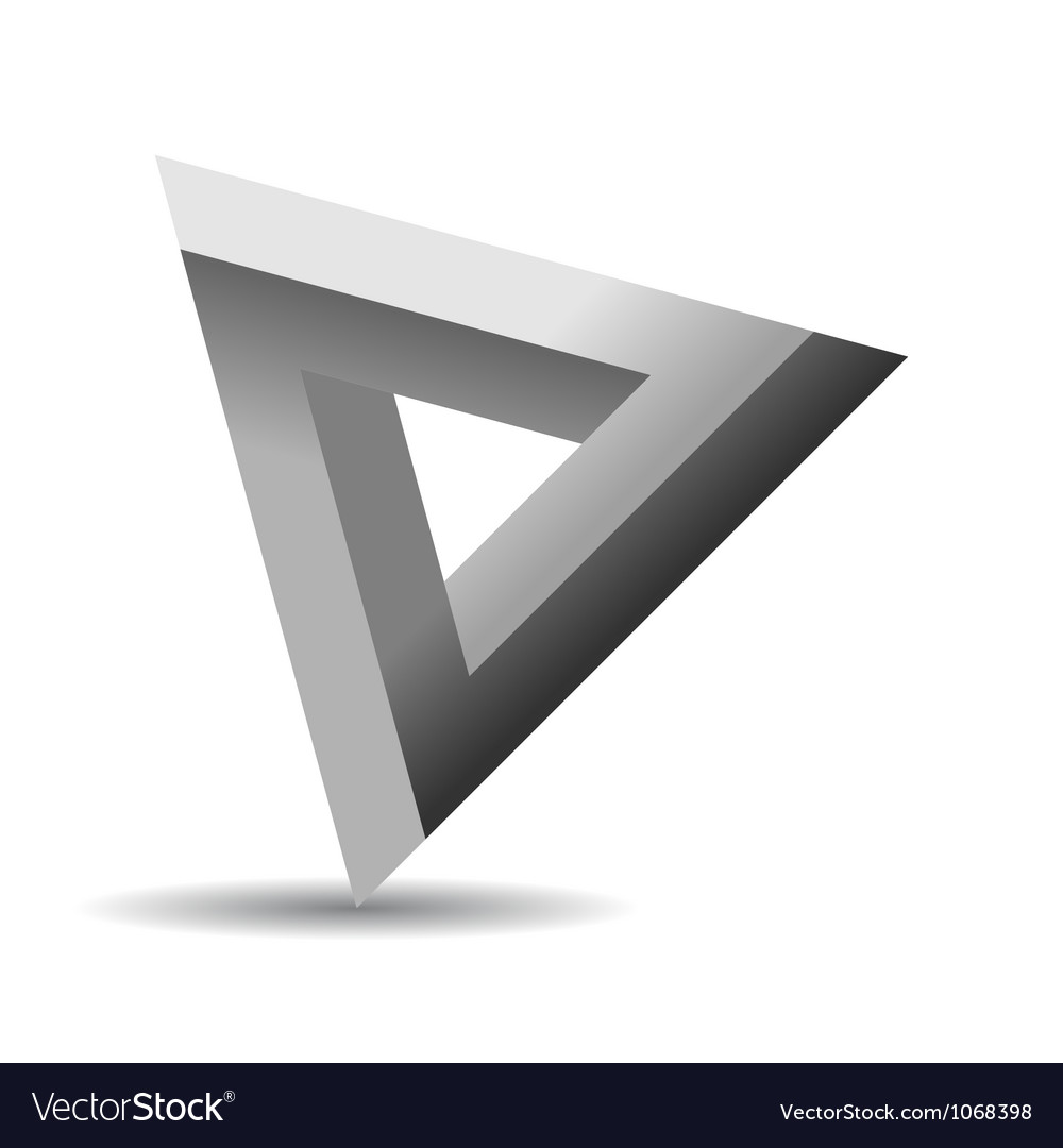 Impossible shape vector image