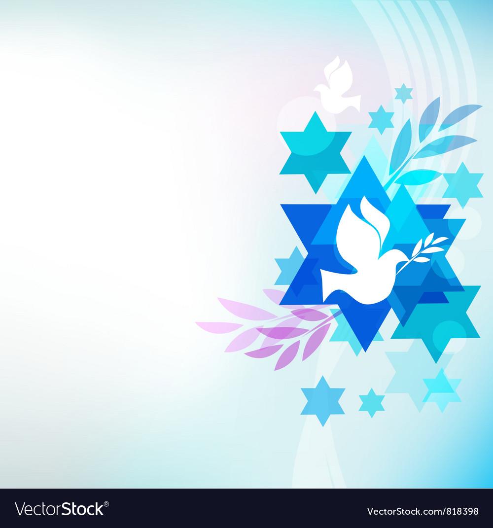 Jewish symbols vector image