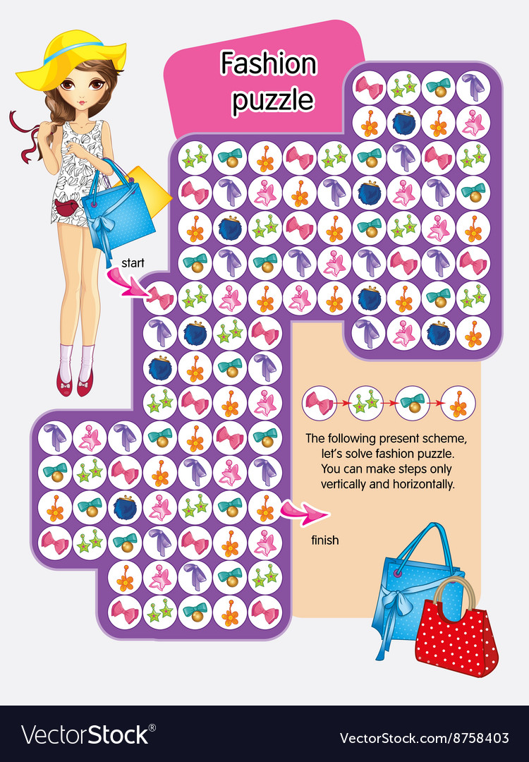 Activity Page Of Fashion Puzzle