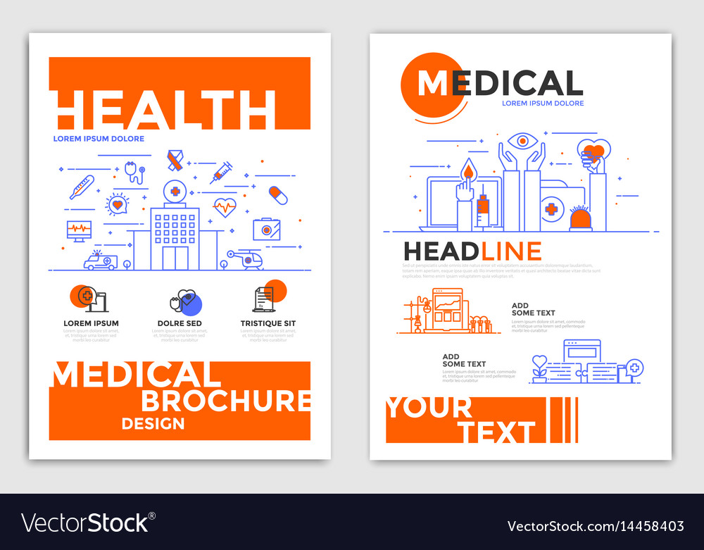 flyer design medical flyers royalty free vector image