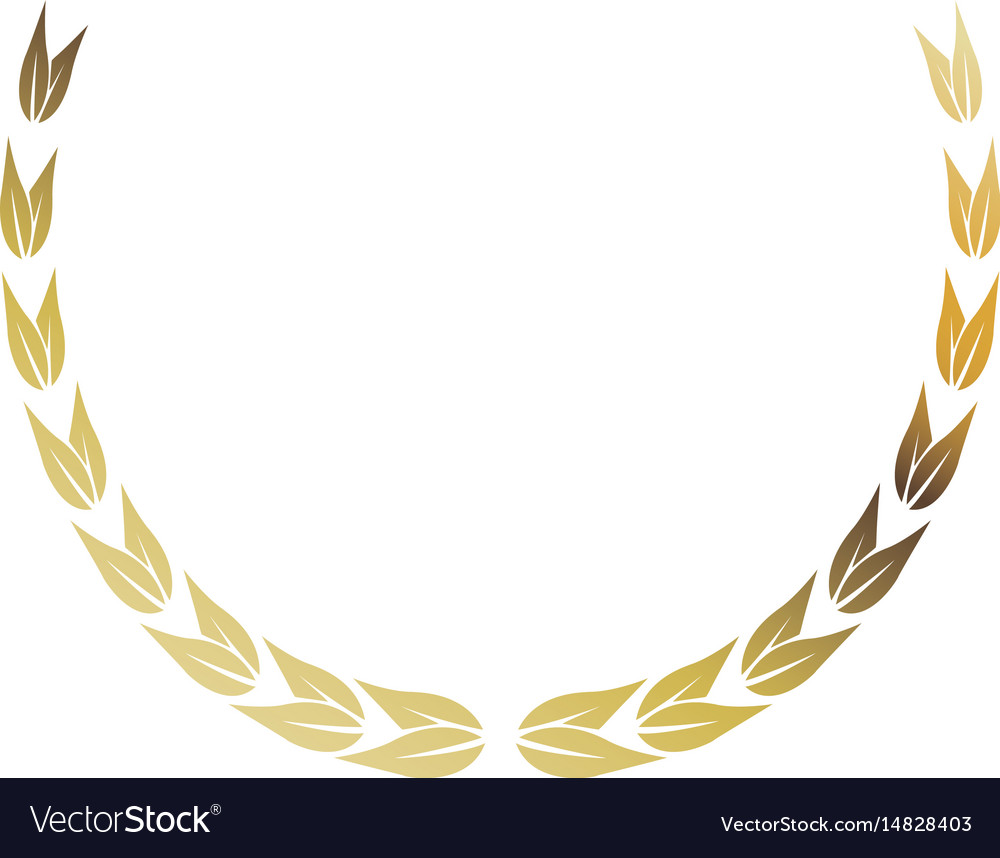 Laurel wreath gold victory decoration leaves