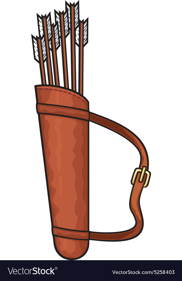 Quiver and arrows vector image