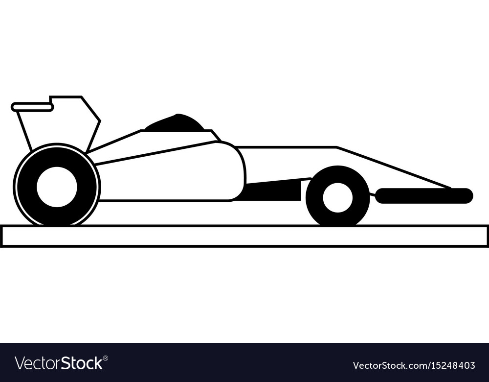 race car silhouette royalty free vector image vectorstock rh vectorstock com race car silhouette vector car silhouette vector free download