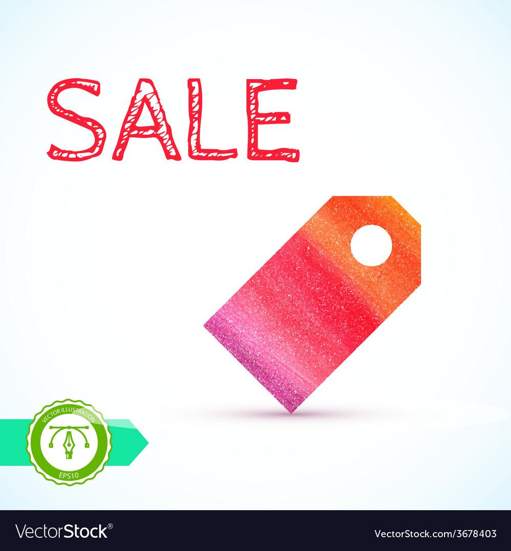 Sale Watercolor Price Tag